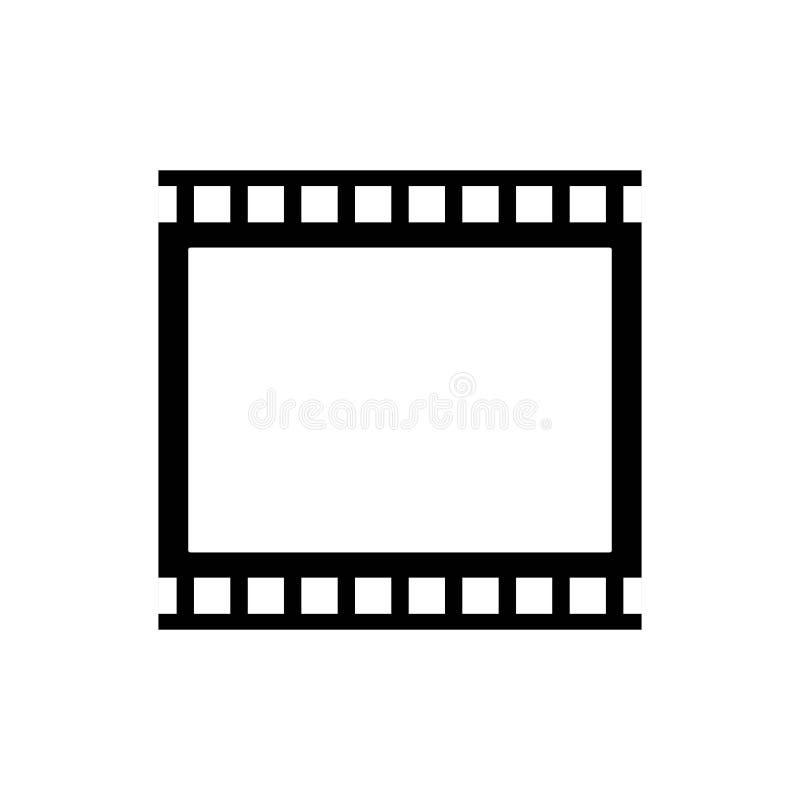 Abstract film icon vector illustration. Template design reel movie video cinema camera filmstrip entertainment white background logo roll symbol black equipment royalty free illustration