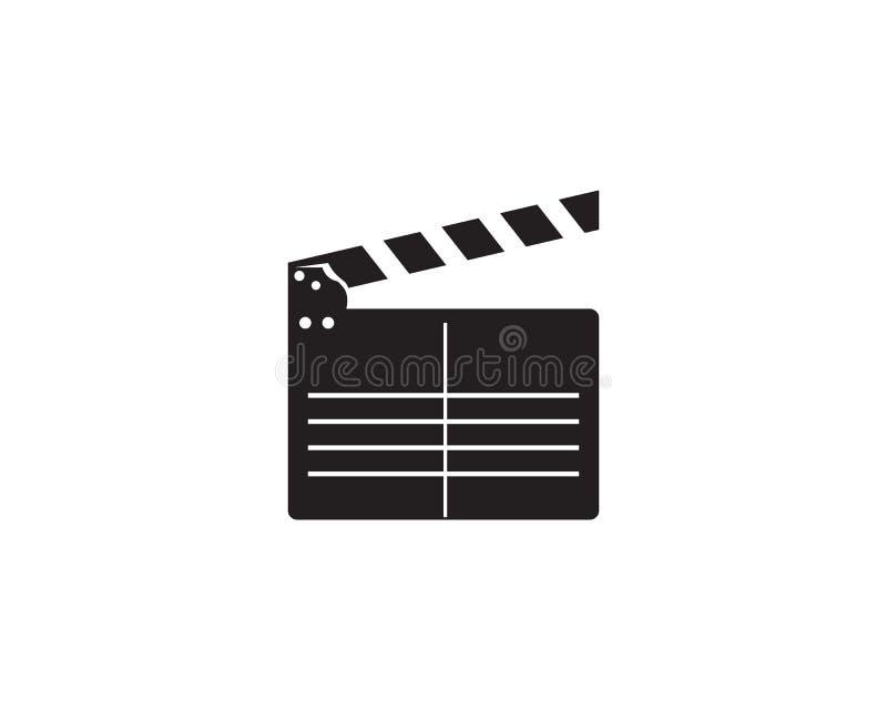 Abstract film icon vector illustration template. Design stock illustration