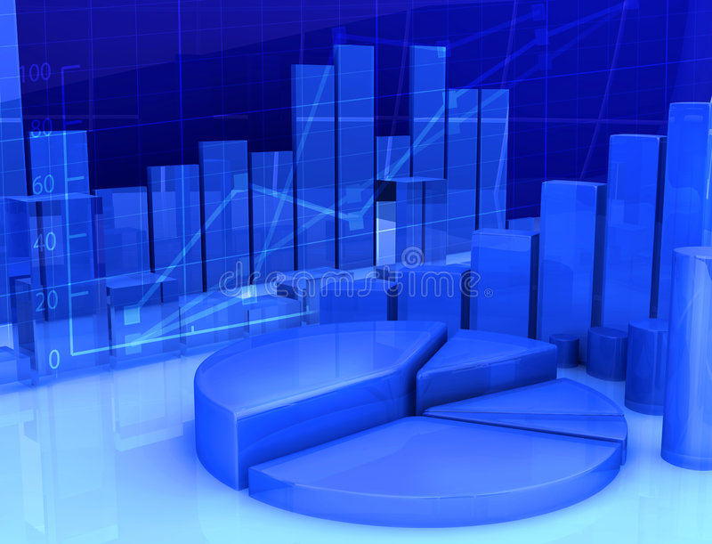 Abstract finance. Abstract vision of finance and money movement on the stock