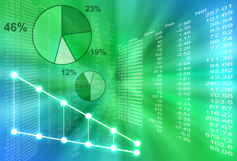 Abstract Financial Figures Stock Photography