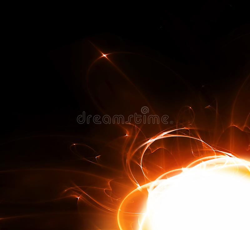 Abstract fire. Background - computer generated for your design royalty free illustration