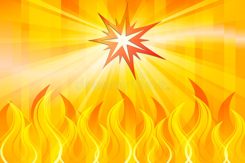 Abstract Fire. Graphic illustration of Abstract Fire royalty free illustration