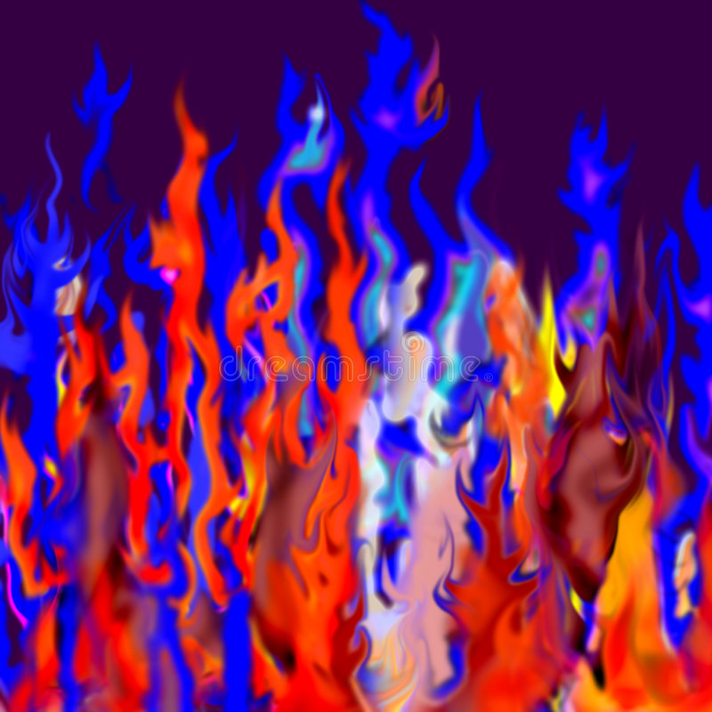 Abstract fire stock illustration