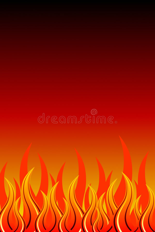 Abstract Fire royalty free illustration