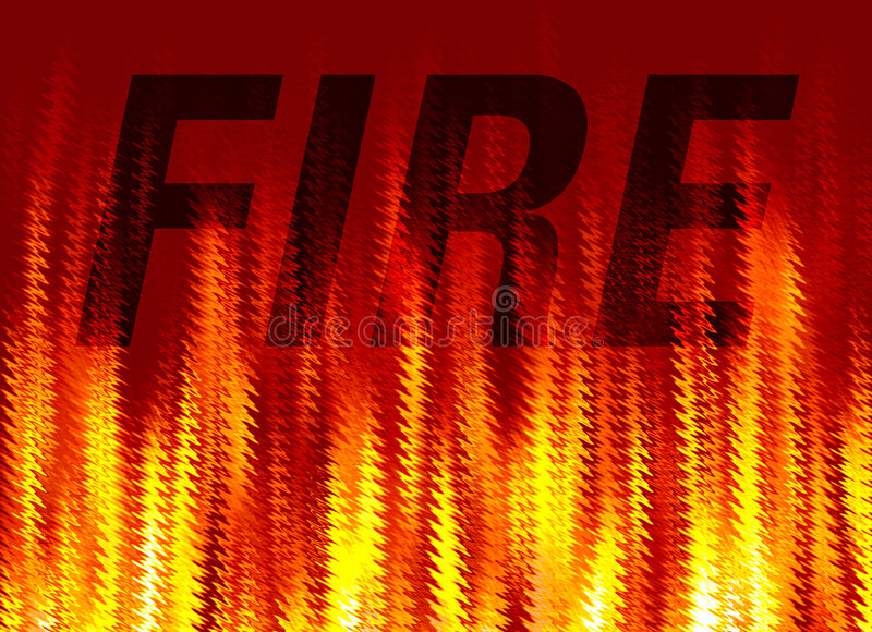 Abstract fire background vector illustration