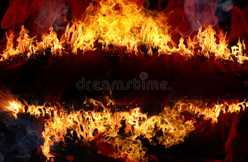 Abstract fire background. With space for copy stock illustration