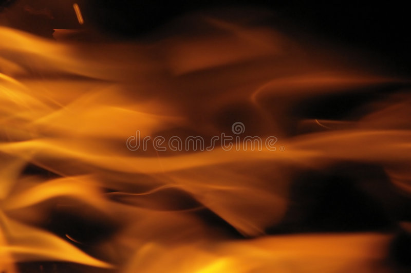 Abstract fire background. In black and orange stock image