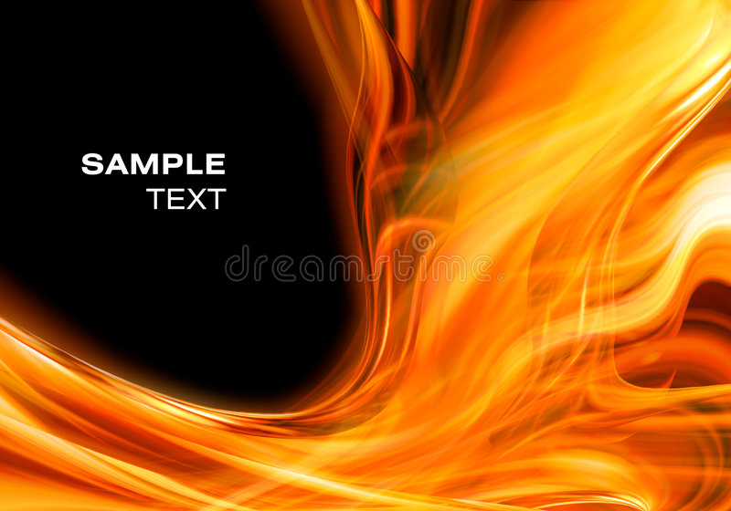 Abstract fire background. For design stock illustration