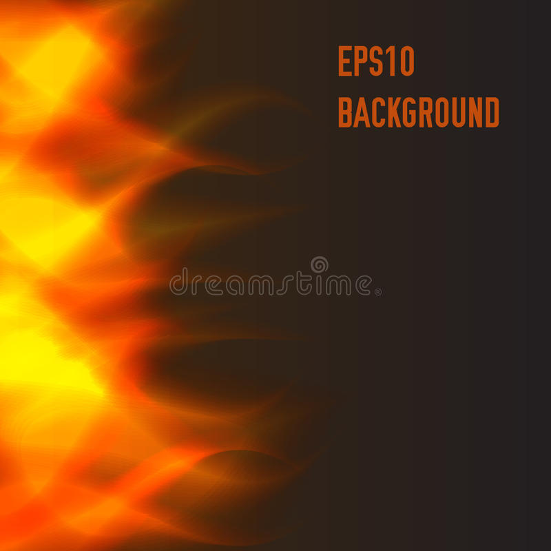 Abstract fire background. Abstract bright warm fire background royalty free illustration
