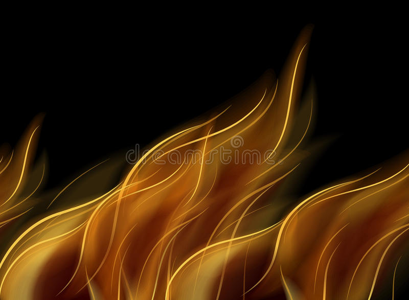 Abstract fire background. Abstract fire on dark background royalty free illustration