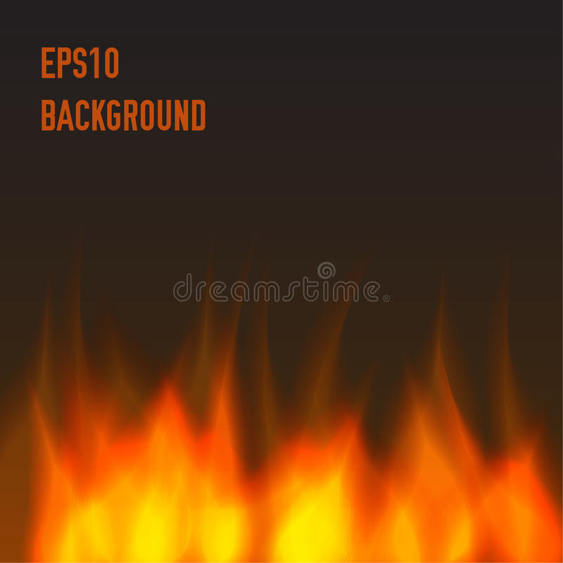 Abstract fire background. Fire in darkness stock illustration