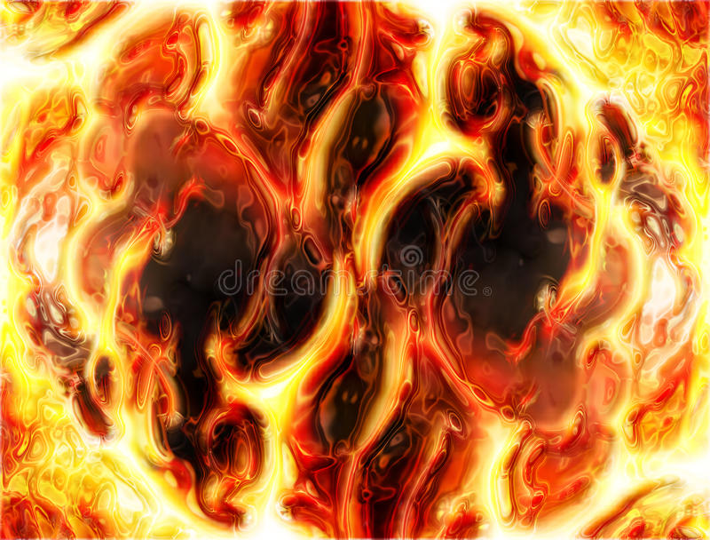 Abstract fire background. Generated in the computer stock illustration