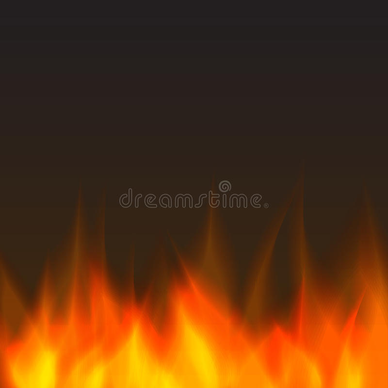 Abstract fire background. Orange stock illustration