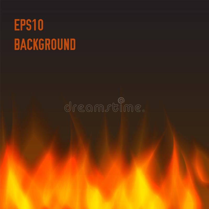 Abstract fire background. Orange and warm stock illustration
