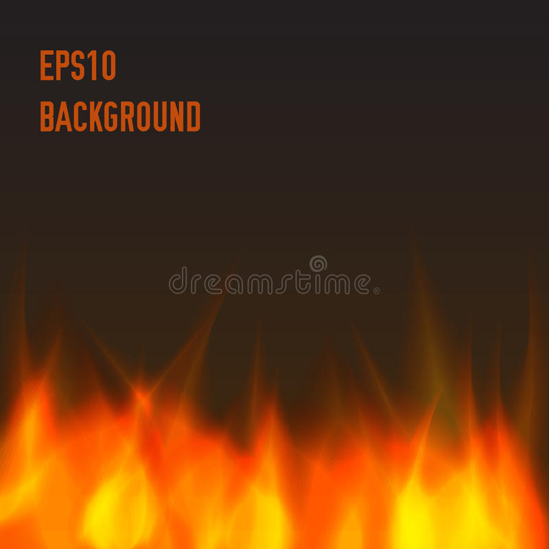 Abstract fire background. Orange and warm vector illustration