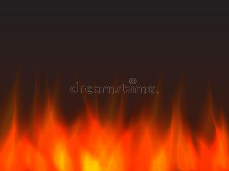 Abstract fire background. Orange and yellow vector illustration
