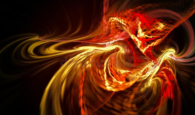 Abstract fire background. With smooth soft lines royalty free illustration