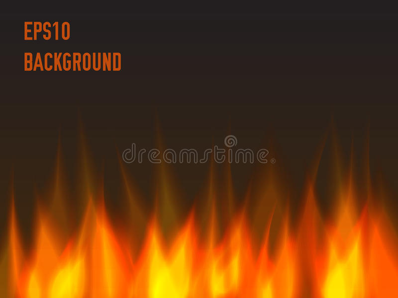 Abstract fire background. Warm flame royalty free illustration
