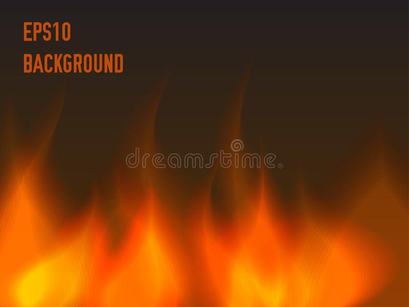 Abstract fire background. Warm flame vector illustration