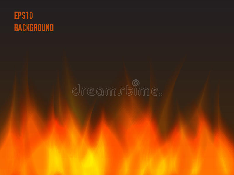 Abstract fire background. Warm and orange stock illustration