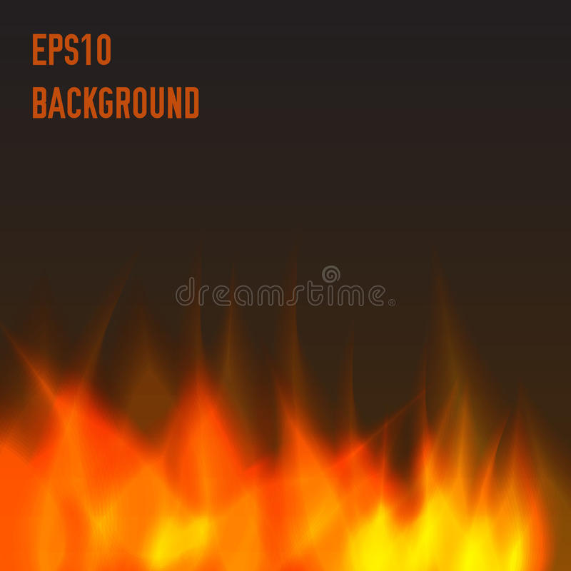 Abstract fire background. Warm and orange vector illustration