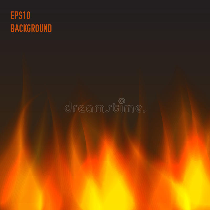 Abstract fire background. Warm and orange royalty free illustration