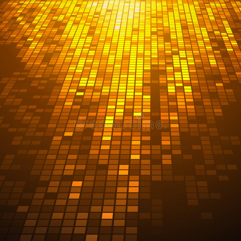 Abstract fire colored 3D mosaic. Vector background royalty free illustration
