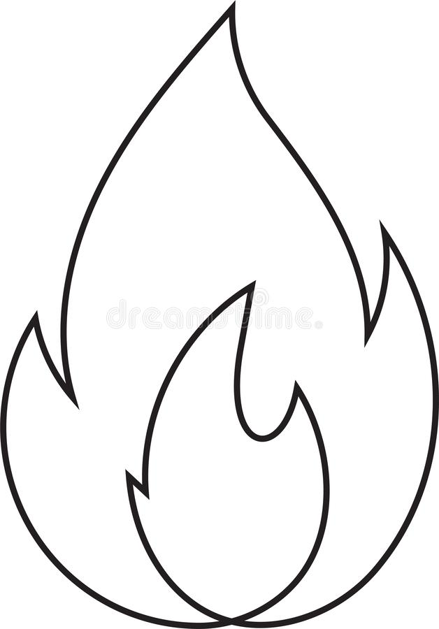 Abstract fire doodle, one line. Continuos line minimalism style flames vector drawing. Abstract fire doodle, one line. Continuos line minimalism style flames stock illustration