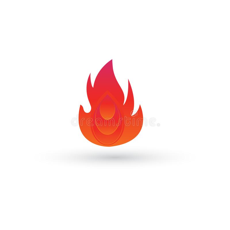 Abstract fire and ellips template logo design. Colorful with gradients. vector eps10.editable stock illustration