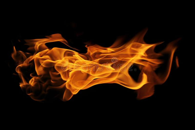 Abstract Fire flame on black background. The Abstract Fire flame on black background stock photography