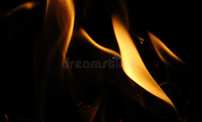 Abstract fire. Flame light background stock photography