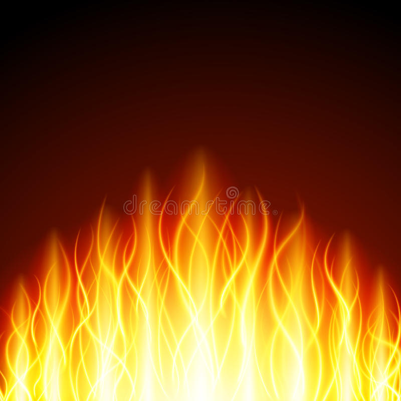 Abstract fire flame light on black background illustration. Burning flames translucent elements special Effect royalty free illustration