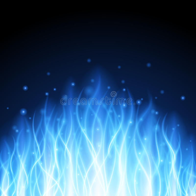 Abstract fire flame light on black background illustration. Burning flames translucent elements special glowing effect royalty free illustration