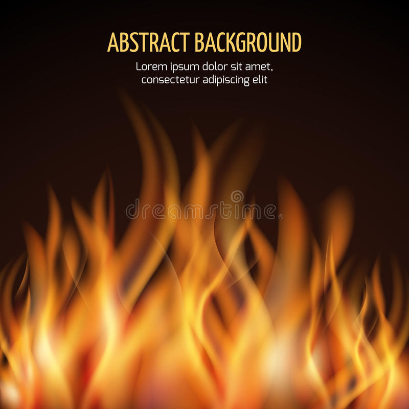 Abstract fire flame vector background. Fire hot blaze and power fire illustration royalty free illustration