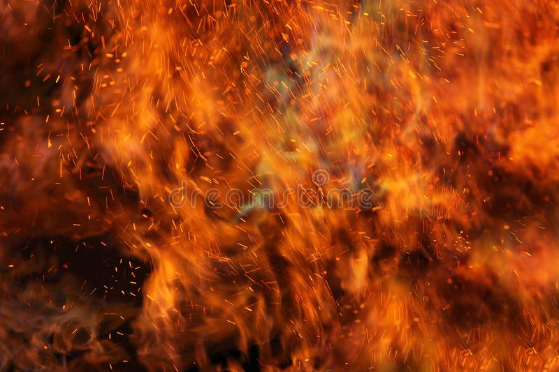 Abstract fire flames in dark area. Abstract fire flames in dark background royalty free stock photo