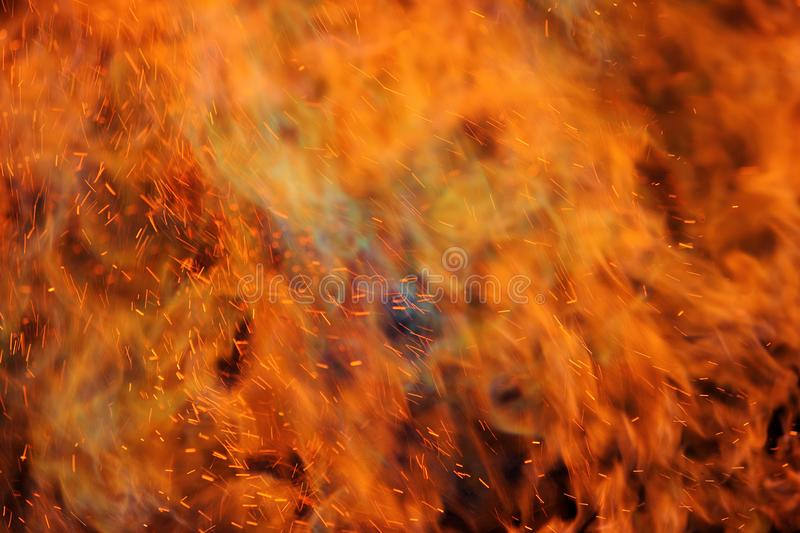 Abstract fire flames in dark area. Abstract fire flames in dark background royalty free stock photos
