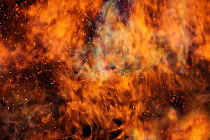 Abstract fire flames in dark area. Abstract fire flames in dark background stock photography
