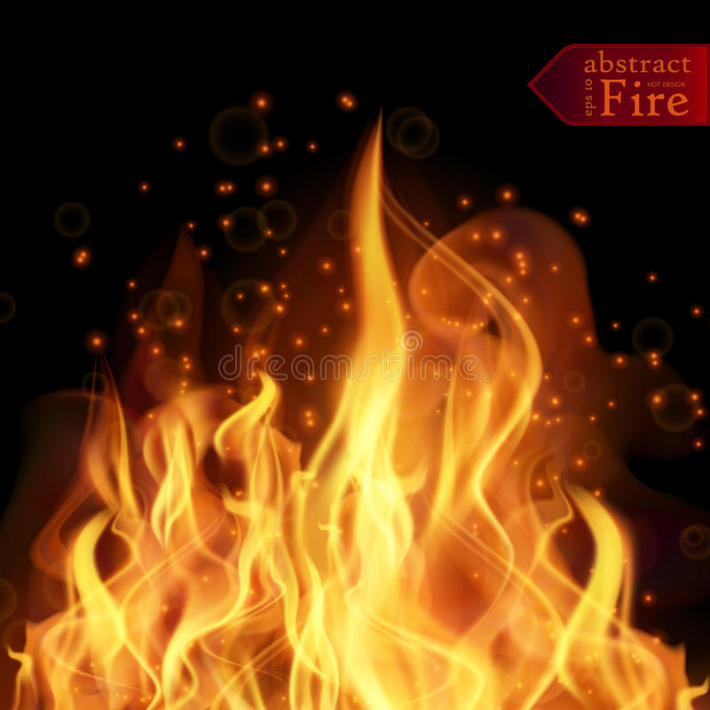 Abstract fire flames vector background. Illustration Hot Fire. With glowing text in flames. EPS 10 vector illustration