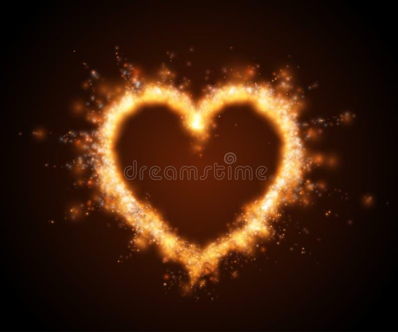 Abstract fire heart . Vector illustration. Abstract fire heart . Vector illustration stock illustration