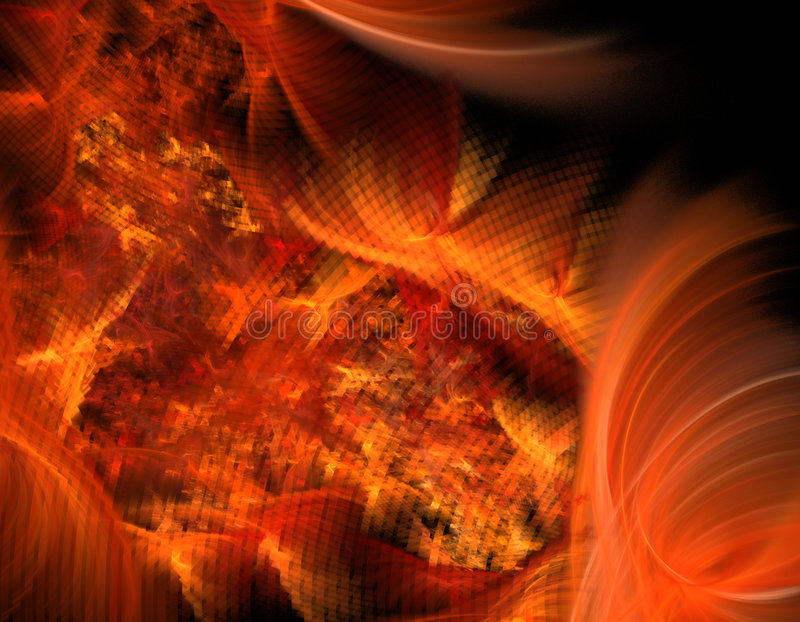 Abstract fire illustration royalty free illustration