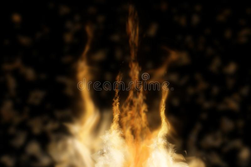 Abstract fire isolated in black. Background. Used for graphic source or background. 3d rendering - illustration royalty free illustration