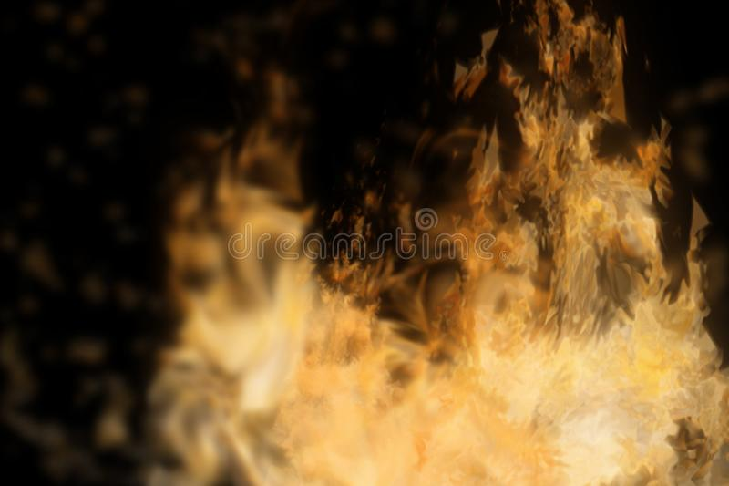 Abstract fire isolated in black. Background. Used for graphic source or background. 3d rendering - illustration stock illustration