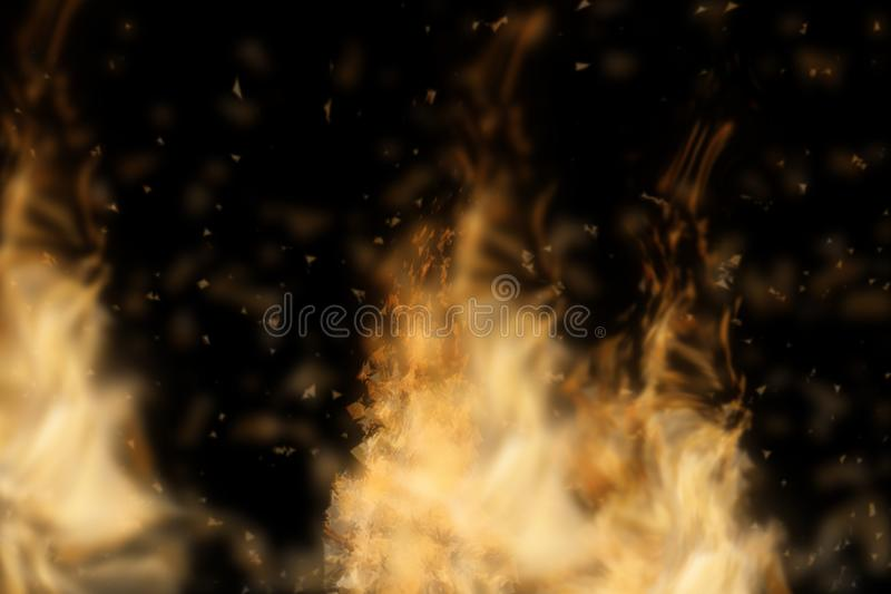 Abstract fire isolated in black. Background. Used for graphic source or background. 3d rendering - illustration vector illustration
