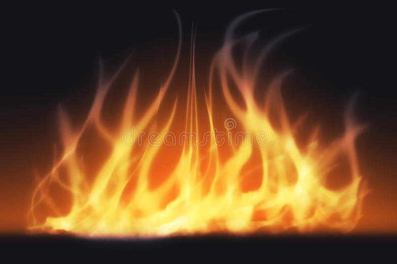 Abstract fire light and smoke. Abstract light from fire flame, abstract smoke effect on dark background vector illustration