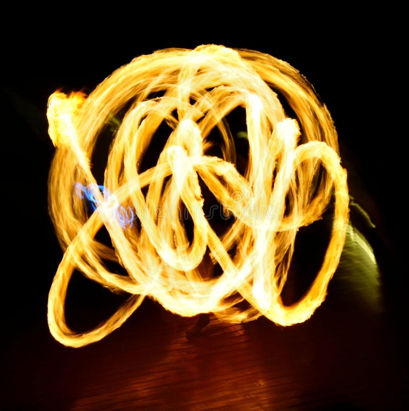Abstract fire movement. Background, Fire show royalty free stock images