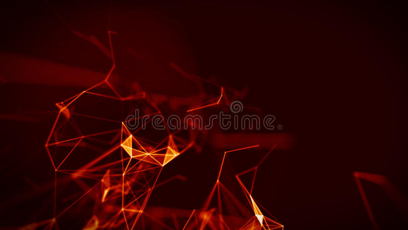 Abstract Fire red Geometrical Background ..Futuristic technology style. Neon Sign . HUD Element . Elegant . Big data. Abstract Fire red Geometrical Background royalty free illustration
