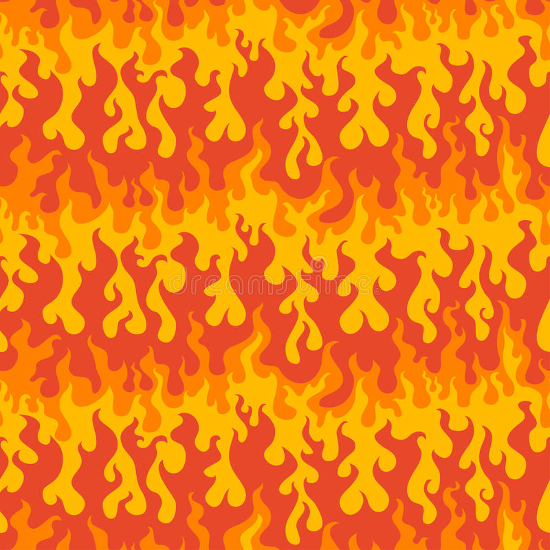Abstract fire seamless pattern. (eps 10 royalty free illustration