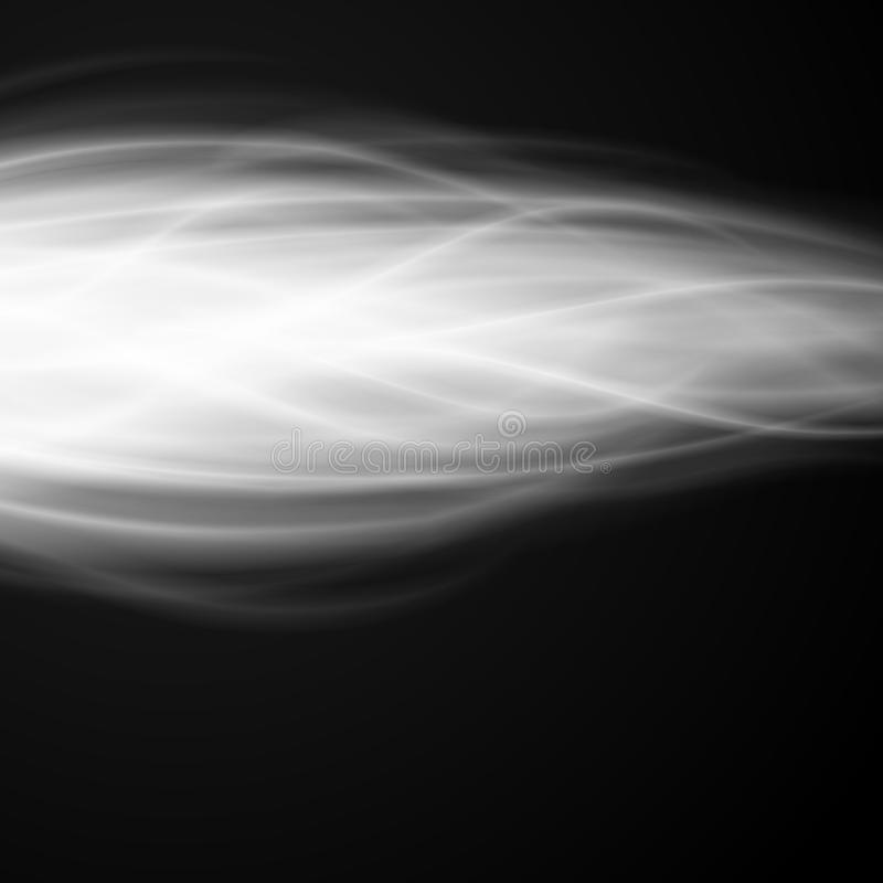 Abstract fire smoke light on black background illustration. Burning flames translucent elements special glowing effect vector illustration