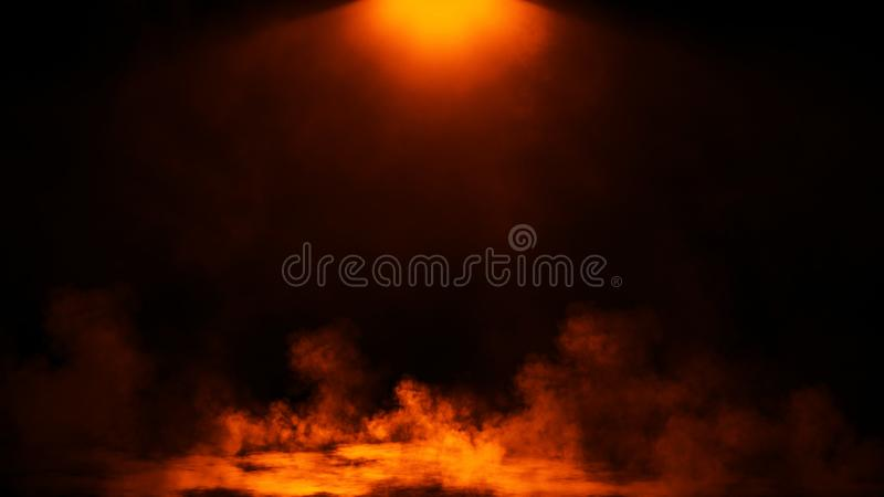 Abstract fire smoke with light effect. Lighting spotlighting texture overlays. Design element stock photography