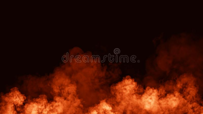 Abstract fire smoke mist fog on a black background. Texture. Design element. Smoke fog misty overltays effect on isolated black background vector illustration